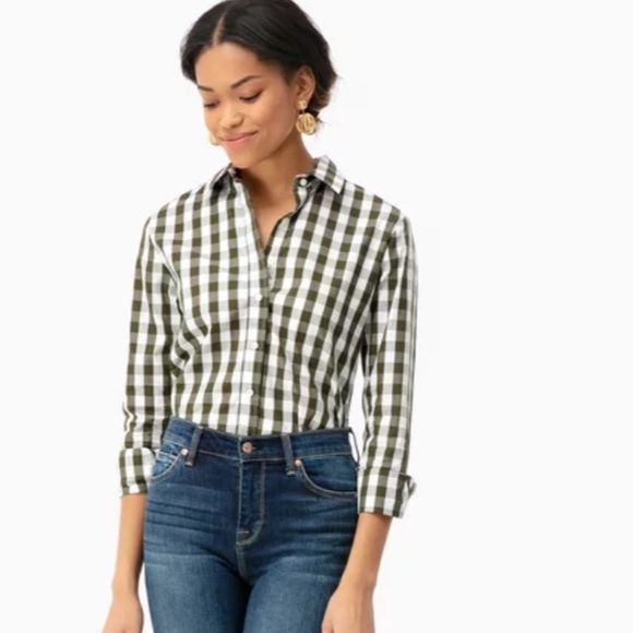 9f7cb0b59a838f The Shirt by Rochelle Behrens Tops | Long Sleeve Gingham Nogape ...